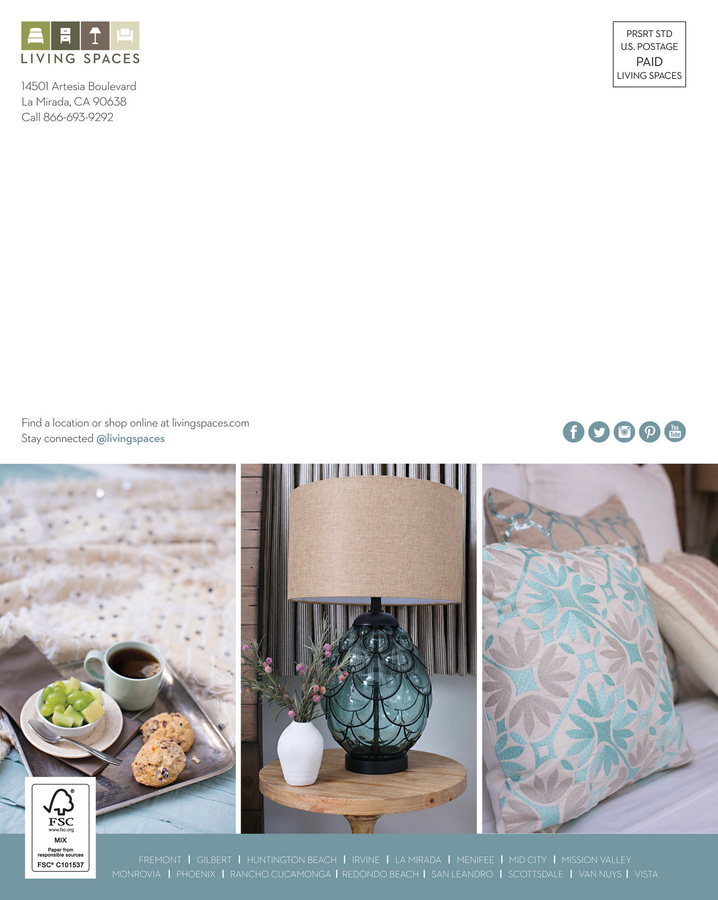 Living Spaces   Product Catalog   Summer 2016   Page 60