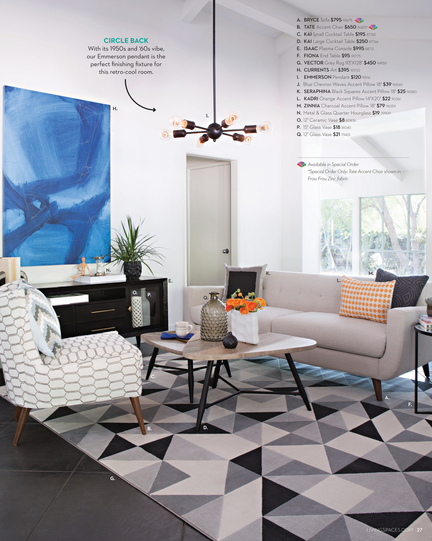 living spaces product catalog summer 2016 page 26 27 livingspaces com 27