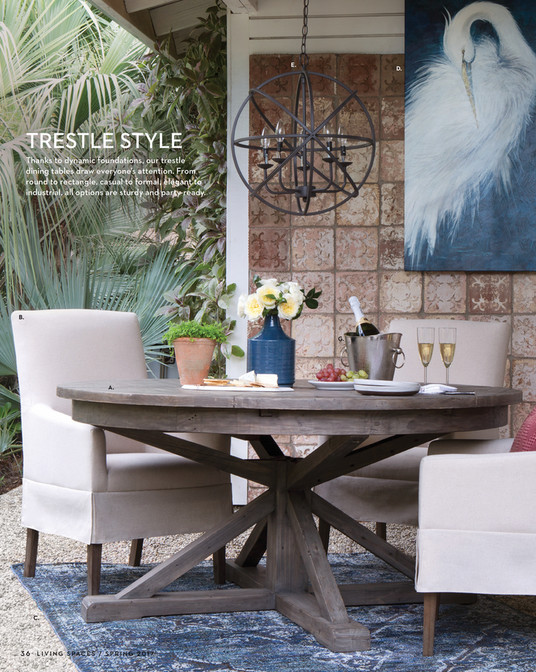 Decked In A Dark Caf Finish And Distinguished By Metal Bolt Detail The Extension Table Also Stretches To Fit Large Parties