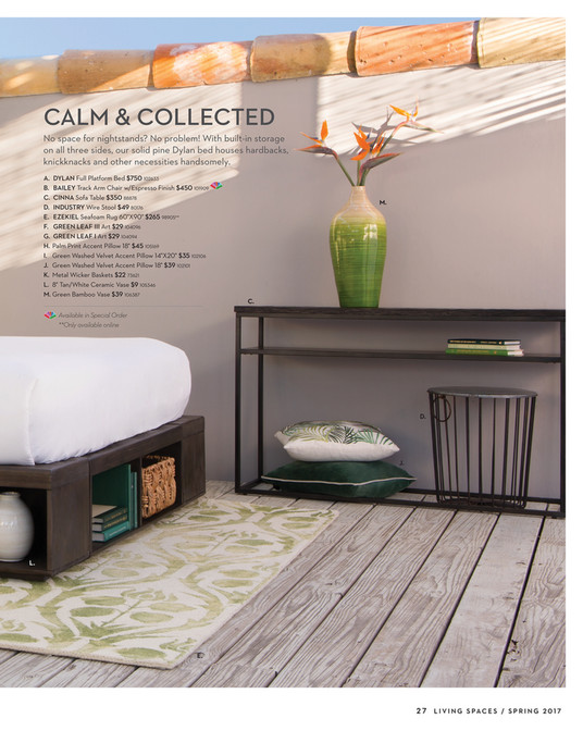 ... CALM U0026 COLLECTED No Space For Nightstands? No Problem! With Built In  Storage