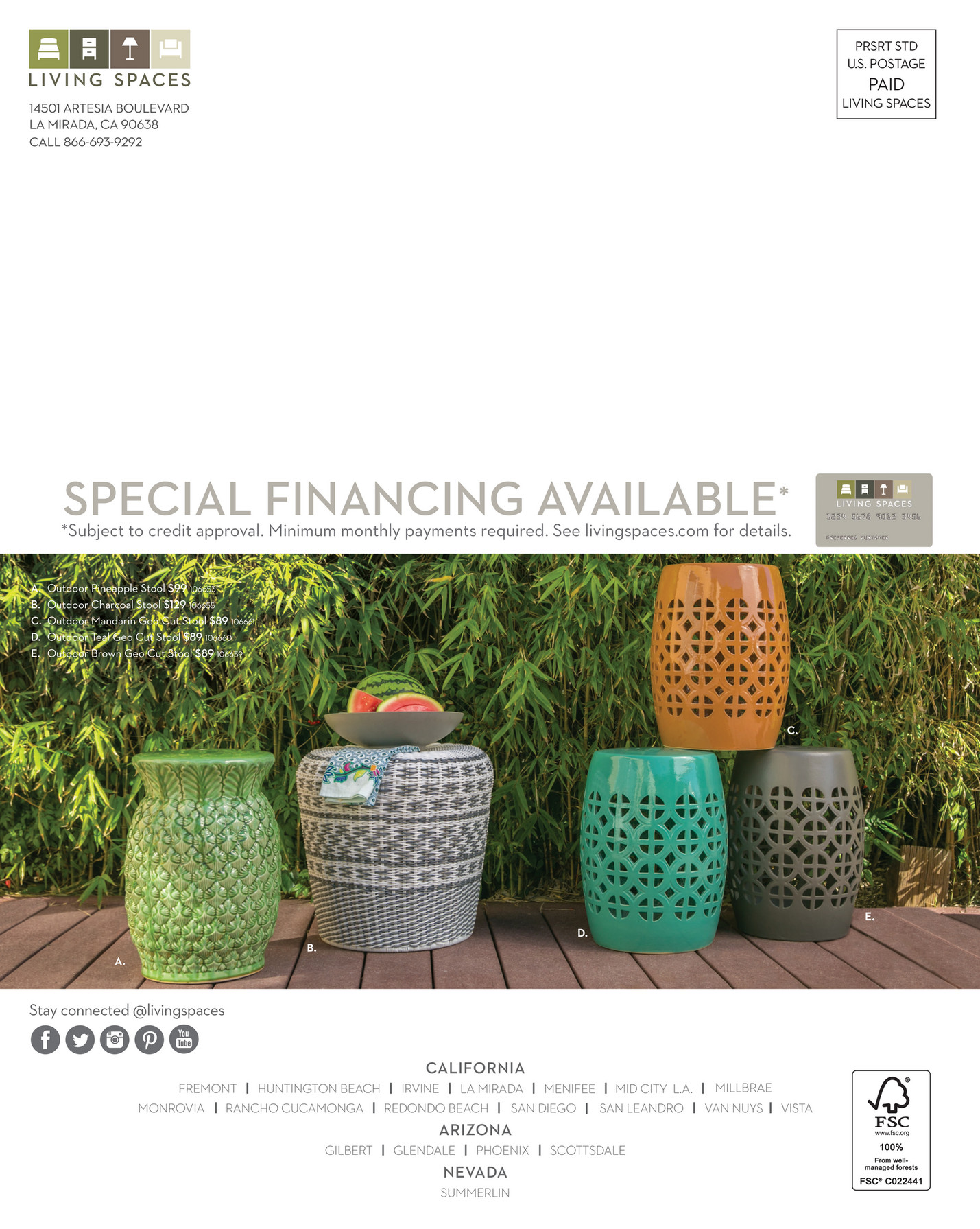 Living Spaces Product Catalog Outdoor 2017 Page 52 .