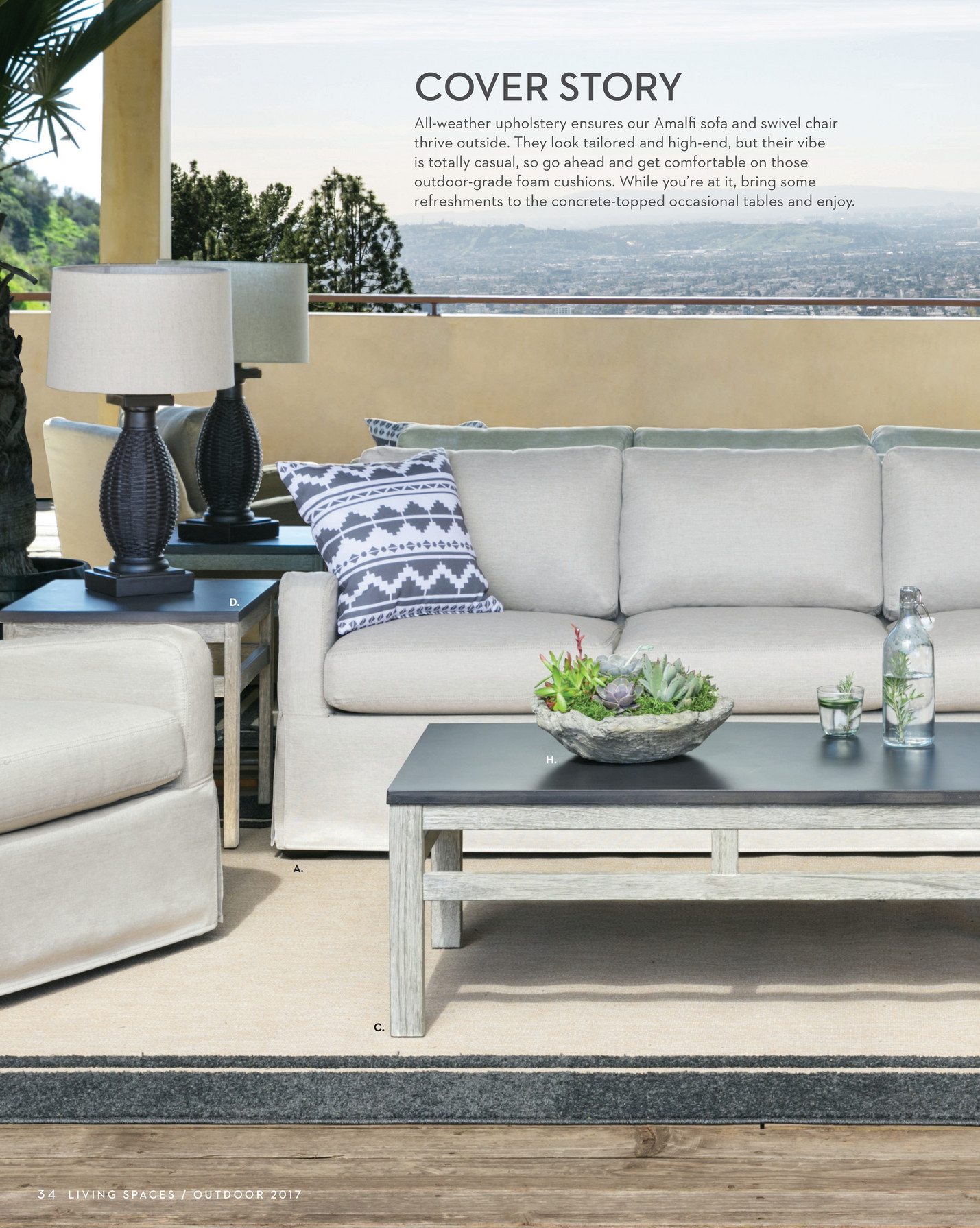 living spaces - product catalog - outdoor 2017 - page 34-35