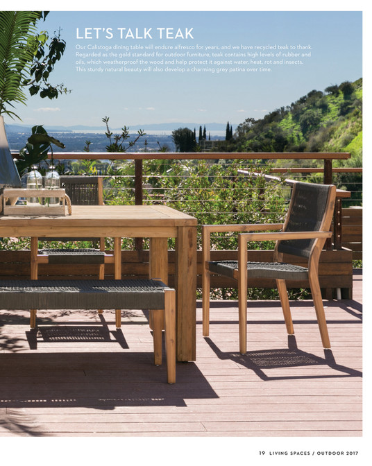 ... LETu0027S TALK TEAK Our Calistoga Dining Table Will Endure Alfresco For  Years, And We Have