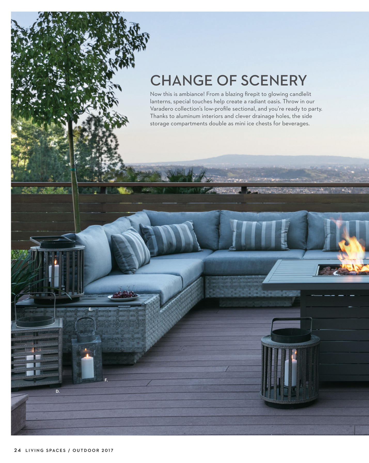 Living Spaces Product Catalog Outdoor 2017 Page 24 25