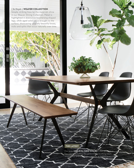 Living Spaces - Fall 2017 - Weaver Dining Table