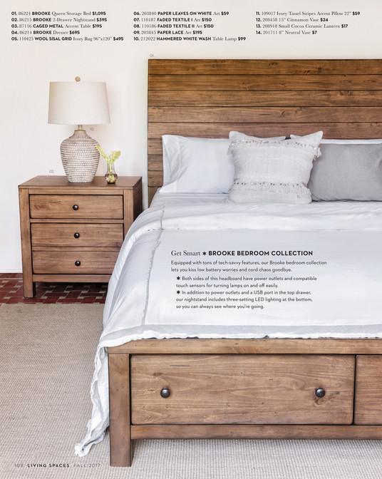 01. 86224 BROOKE Queen Storage Bed $1,095 02. 86215 BROOKE 2 Drawer  Nightstand ...