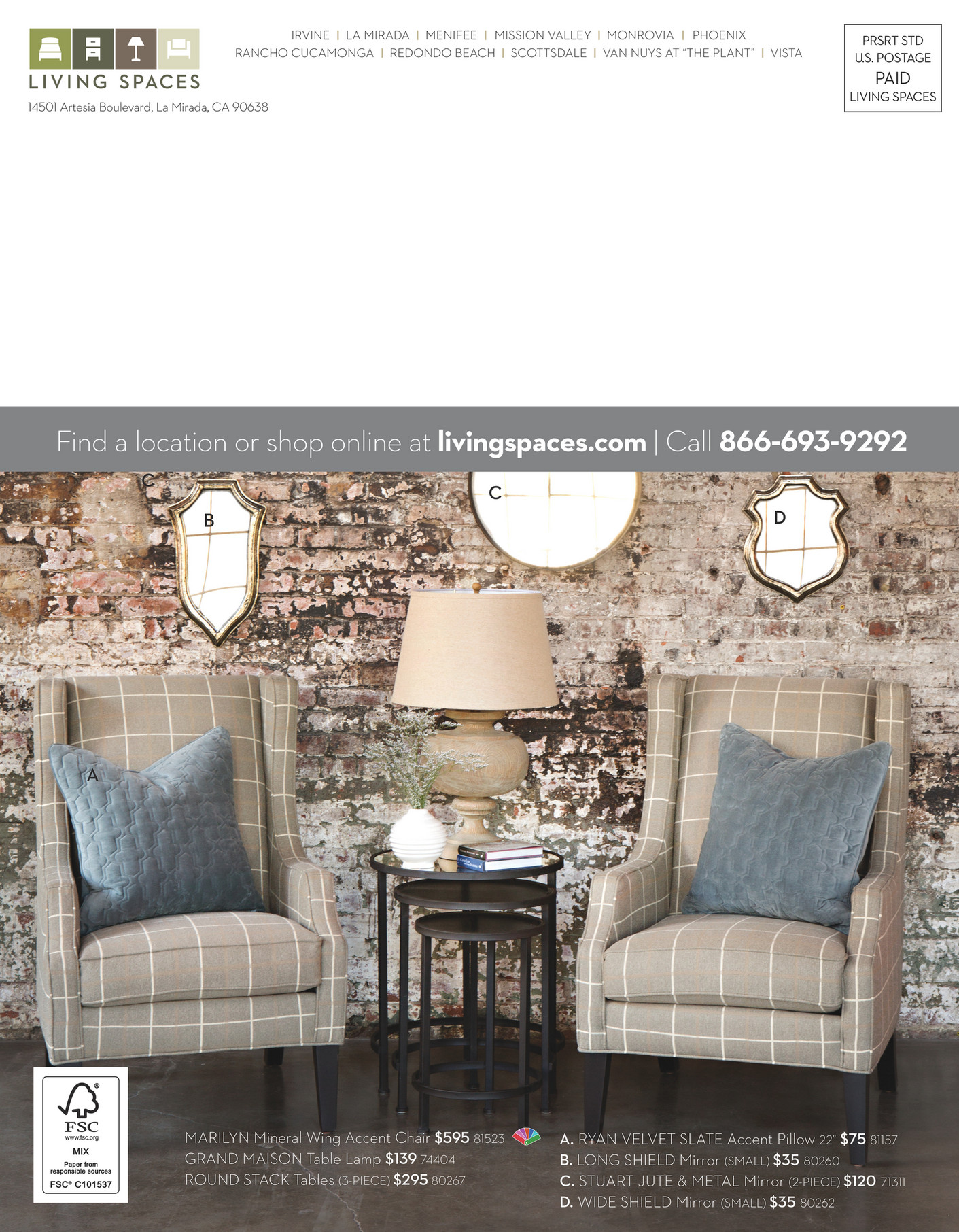 Living Spaces   Product Catalog   August 2014   Page 52