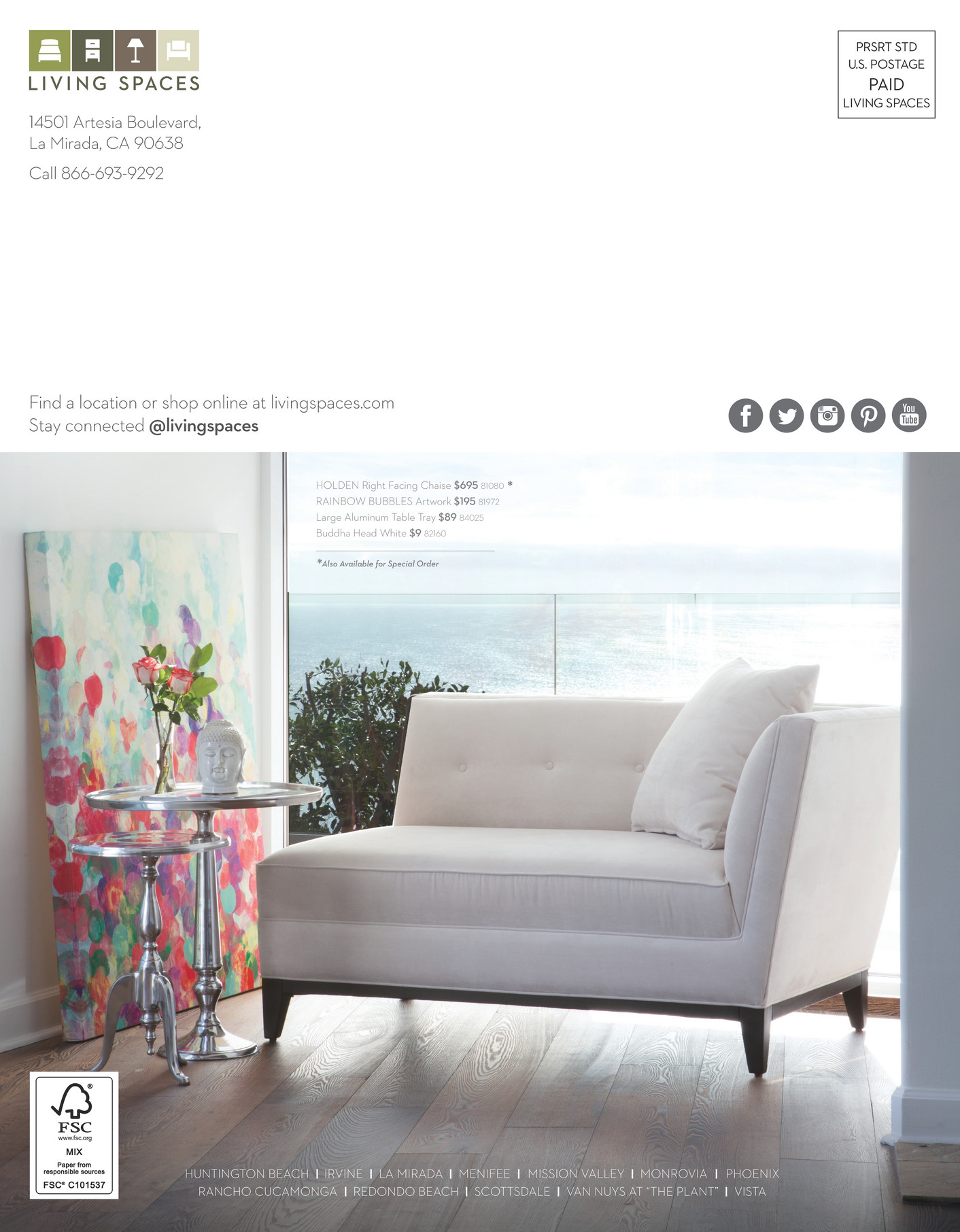 Living Spaces   Product Catalog   February 2015   Page 60