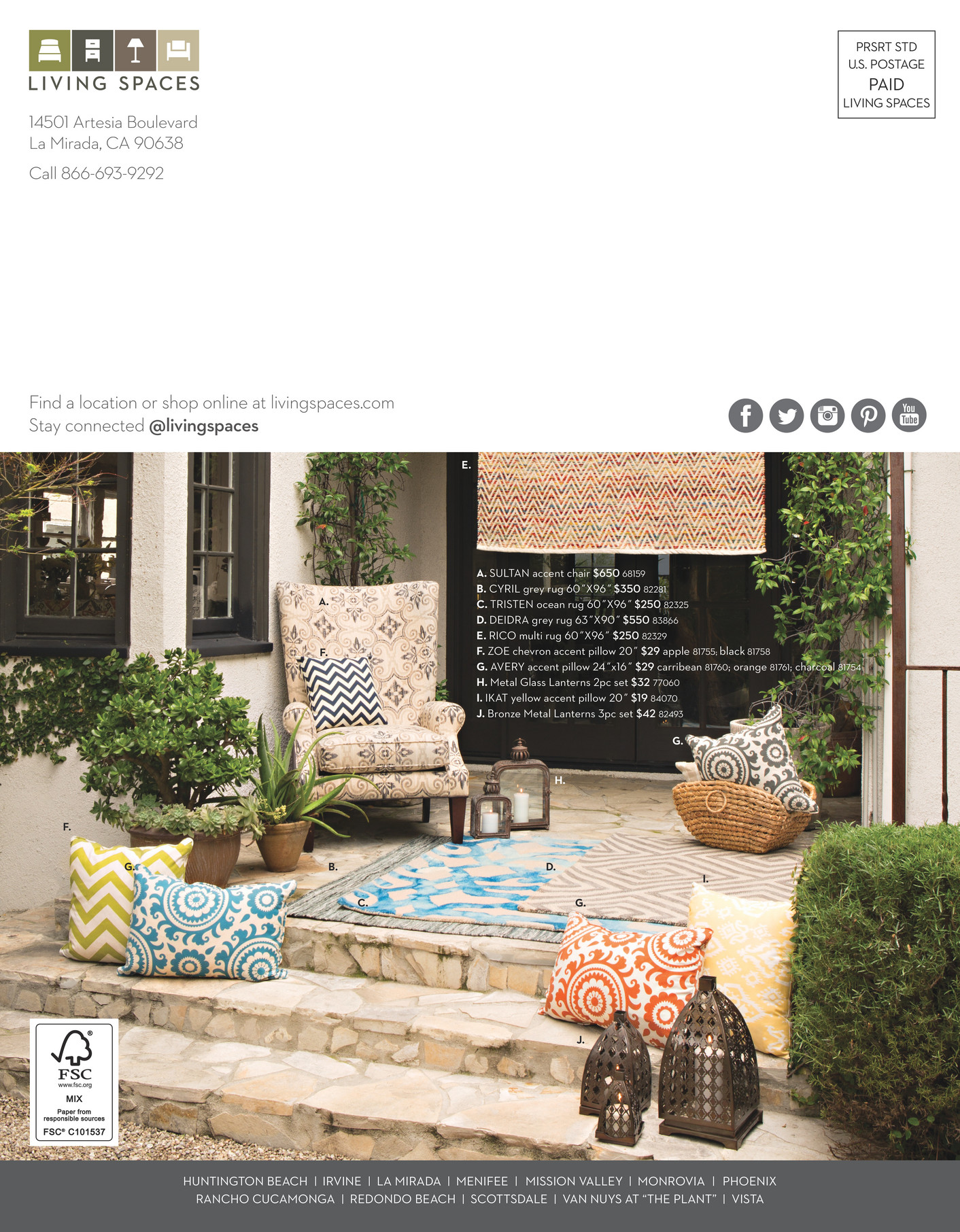Living Spaces Product Catalog May Page