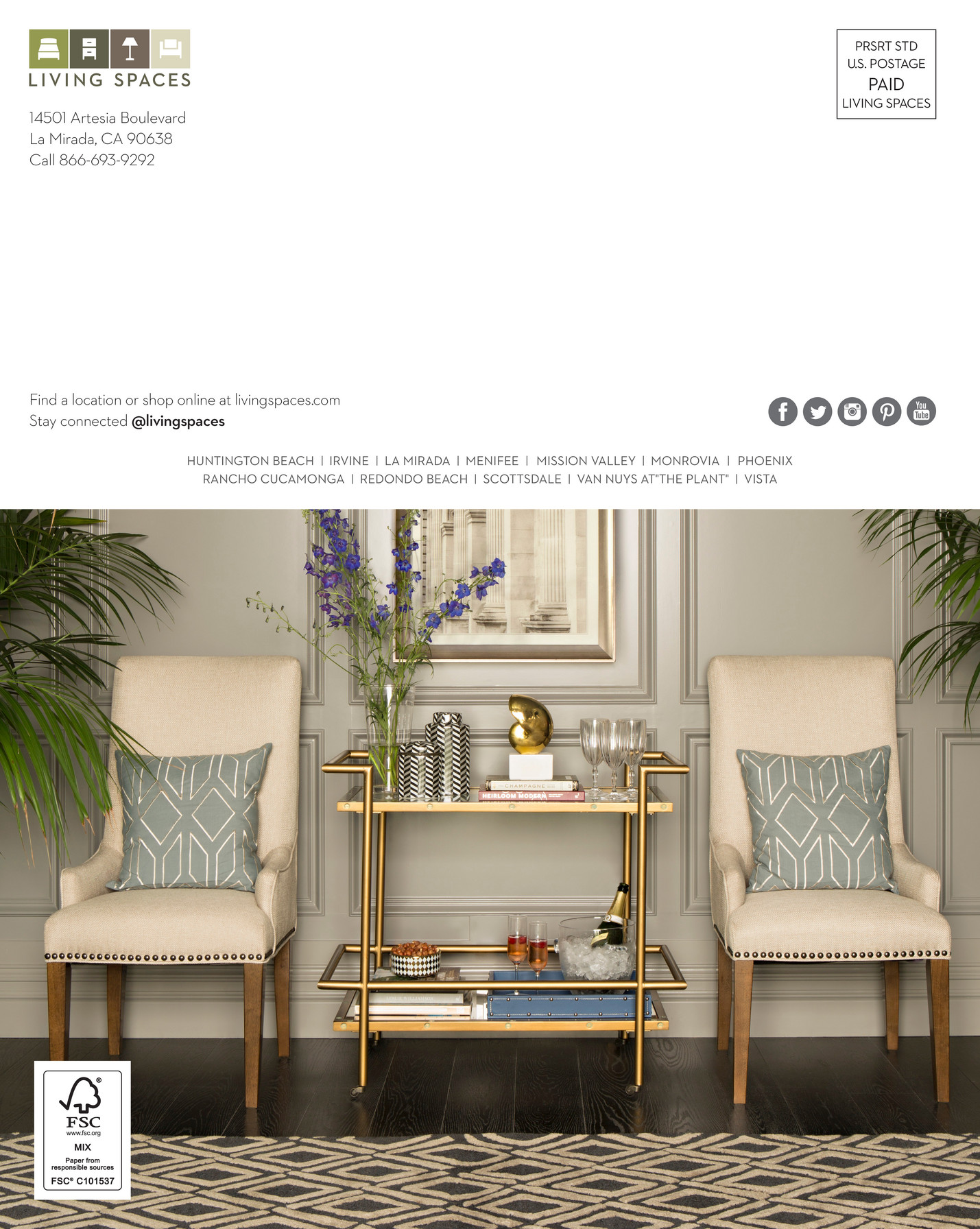 Living Spaces Product Catalog August Page